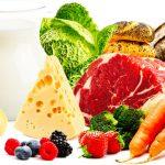 малюнок із зображенням продуктів для збалансованого харчування